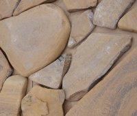 Песчаник каштановый галтованный