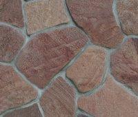 Песчаник розовый галтованный