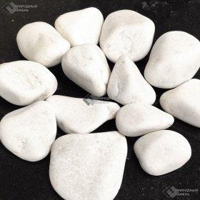 Галька белая мраморная